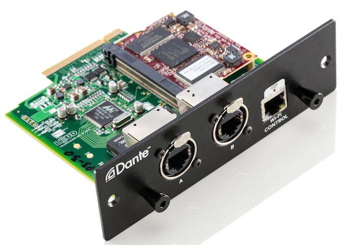 Dante Expansion Card Now Available DL32R Mixer