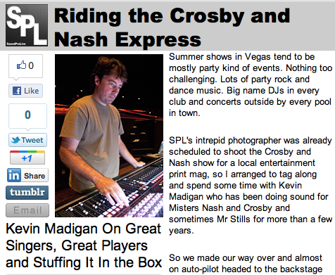 Kevin Madigan On the Crosby/Nash Express
