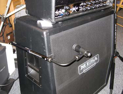 Miking a Guitar Amp WIthout a Mic Stand
