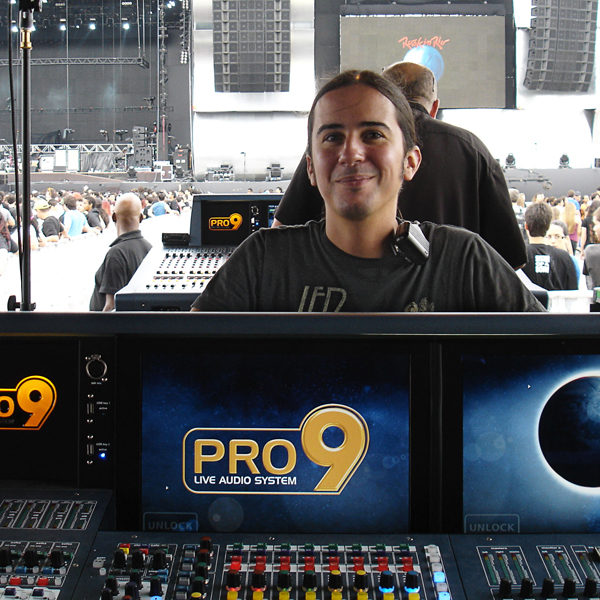ON TOUR: Eddie Mapp mixes Evanescence on Midas PRO9