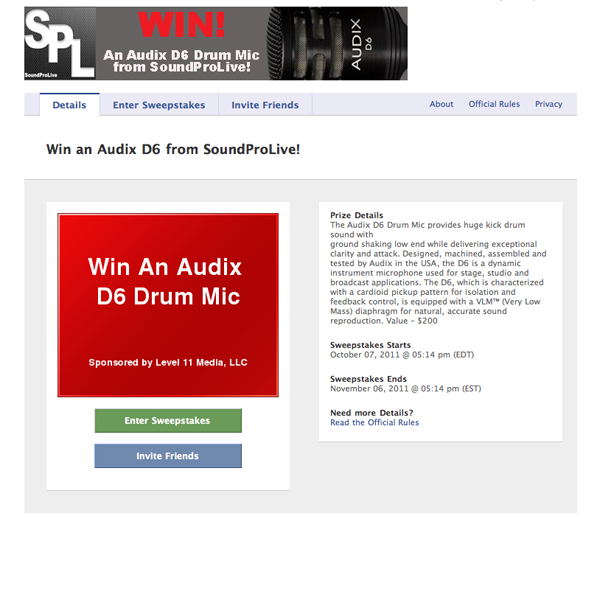 Win an Audix D6 from SoundProLive!