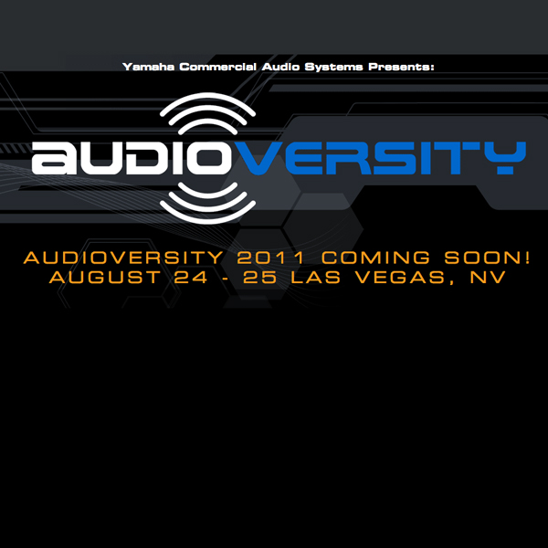 Yamaha Commercial Audio To Hold Audioversity in Vegas
