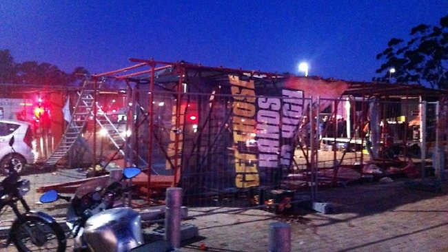 Wind Takes Out Billboard Structure in South Africa. One Dead, 11 Injured