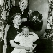 Leslie's parents (novelty drummer, percussionist, and bandleader Spike Jones and singer Helen Grayco) and brother Spike Jr. PHOTO CREDIT: Photo Agency