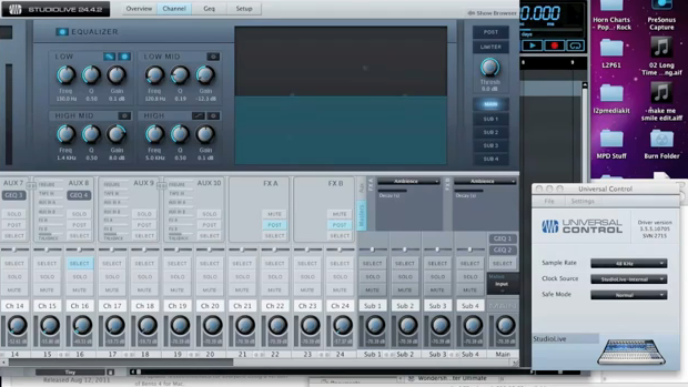VIDEO REVIEW: Universal Control and Capture for Presonus StudioLive Mixers
